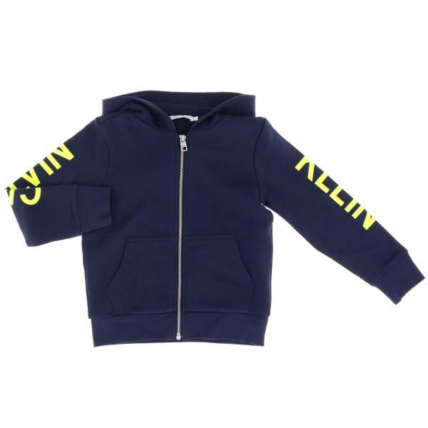 Felpa Calvin Klein con cappuccio e zip con maxi stampa logo