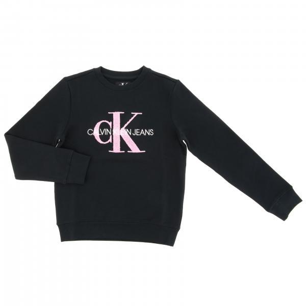 Felpa Calvin Klein a girocollo con maxi stampa logo
