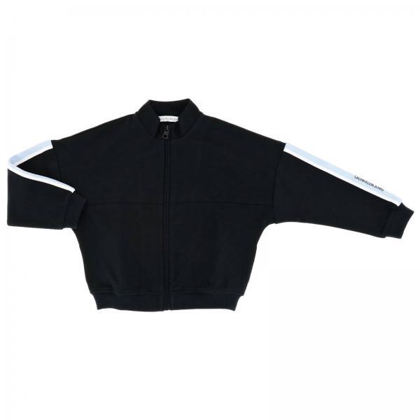 Толстовка Calvin Klein на молнии с полосками на рукавах