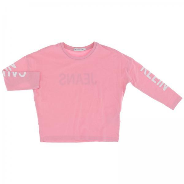 T-shirt Calvin Klein à manches longues avec maxi logo imprimé