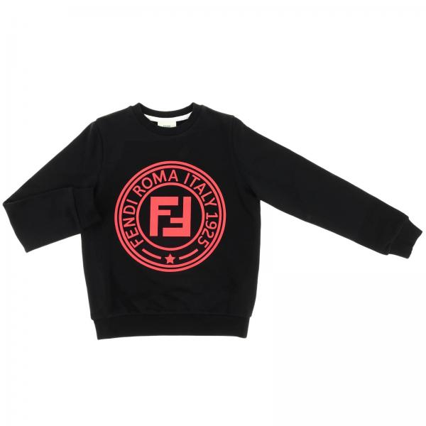 Fendi crewneck sweatshirt with maxi FF Roma logo