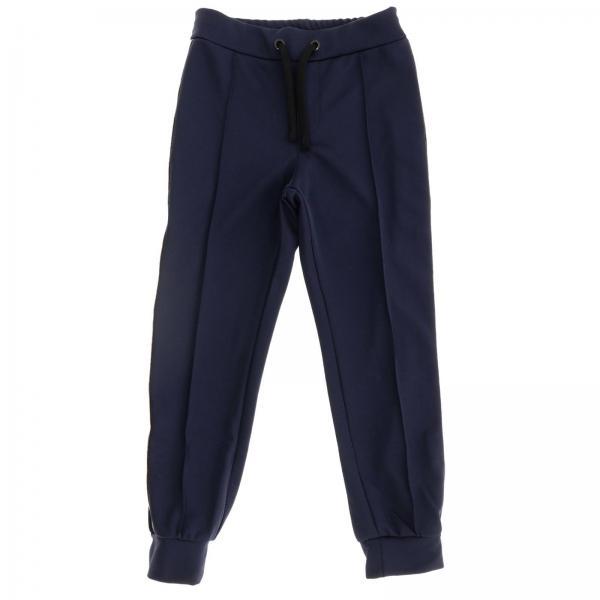 Fendi运动风长裤,品牌logo条纹