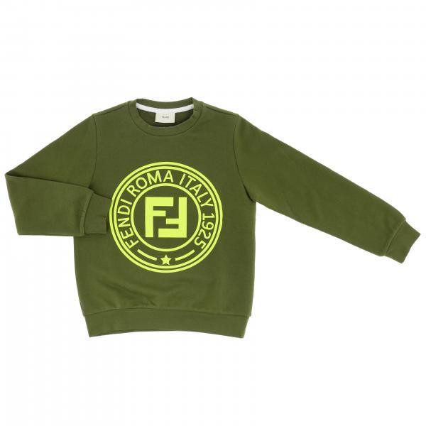 Sudadera de cuello redondo Fendi con logo maxi FF Roma