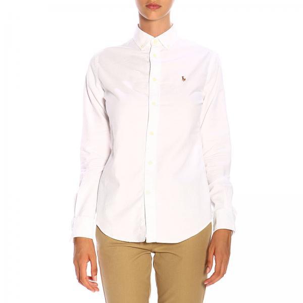 Рубашка классическая с воротничком button down и логотипом Polo Ralph Lauren