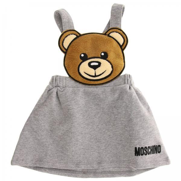 Gonna Moschino Baby con bretelle e maxi Teddy