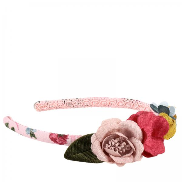 Monnalisa floral patterned headband with applications