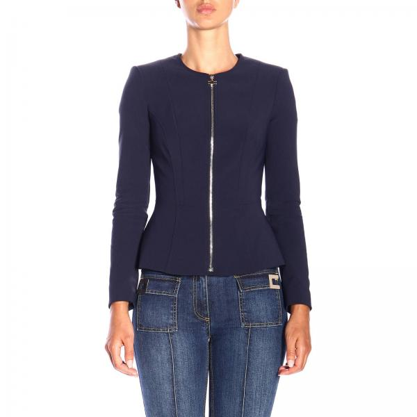 Куртка Elisabetta Franchi с круглым вырезом на молнии