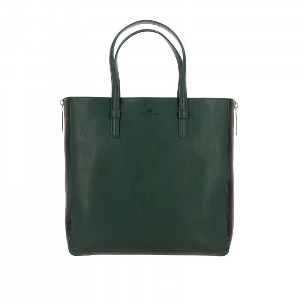 Elisabetta Franchi tote bag in synthetic leather with double zip closure