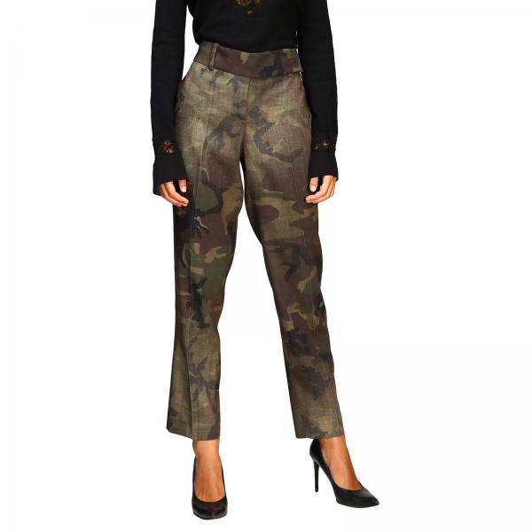 Pantalone Ermanno Scervino a vita alta in tessuto camouflage