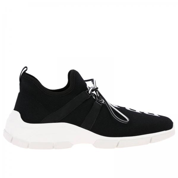 Sneakers Prada in tessuto tecnico stretch con maxi logo