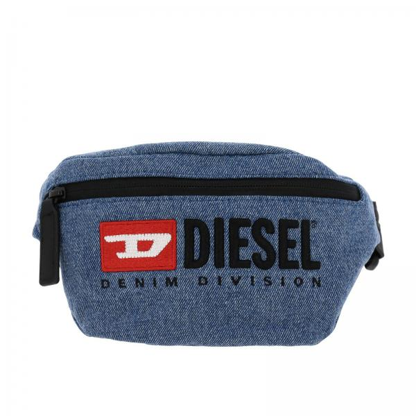 Diesel Denim belt Bag with maxi logo