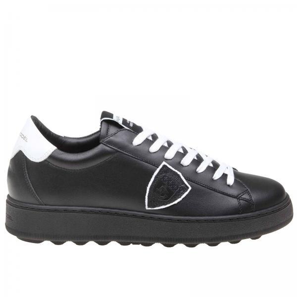 运动鞋 男士 Philippe Model 光滑真皮系带运动鞋