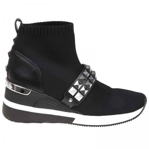 Michael Michael Kors 网眼真皮铆钉一脚蹬运动袜鞋