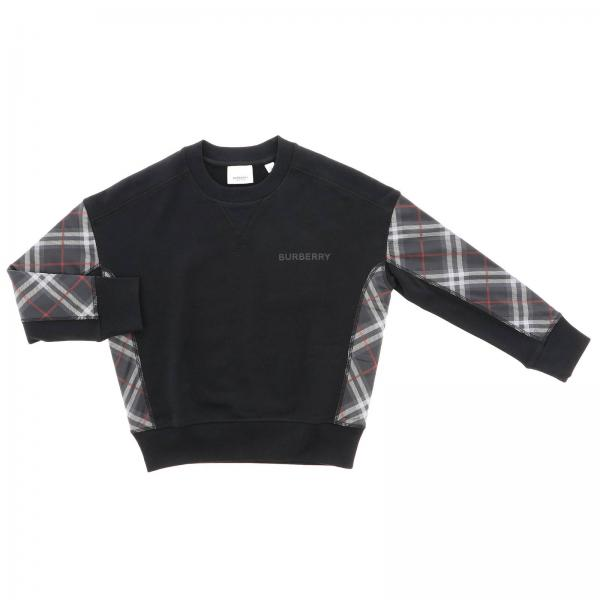 Burberry crewneck sweatshirt with check details