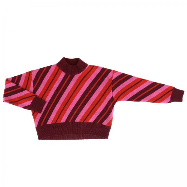 Pullover col haut Marni avec motif à rayures