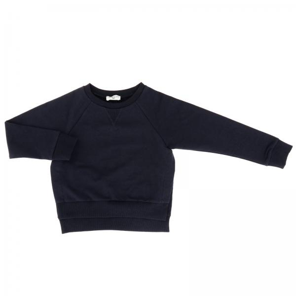 Monnalisa crewneck sweatshirt with logoed bands