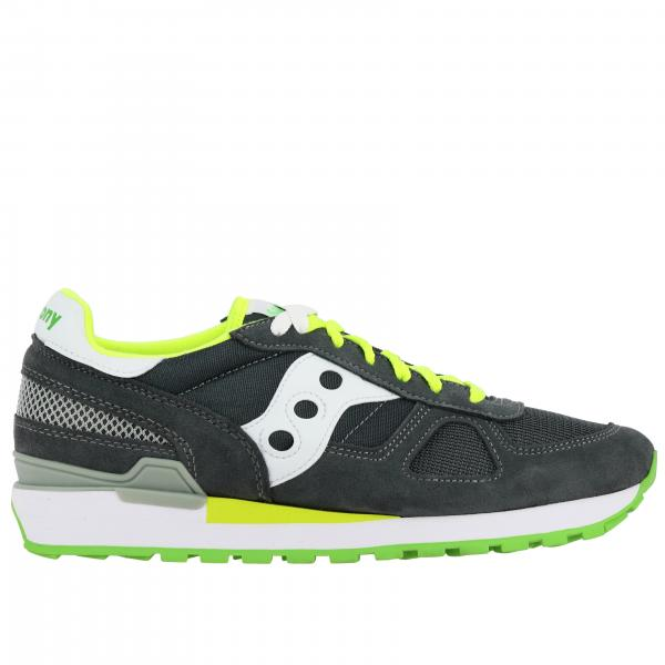 Sneakers Saucony in pelle scamosciata e micro rete