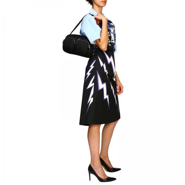 A Logo Prada 1bc094 2cki Borsa Donna E Nylon Tracolla Zip Spalla Full NeroIn Con Triangolare 8m0vnNwO