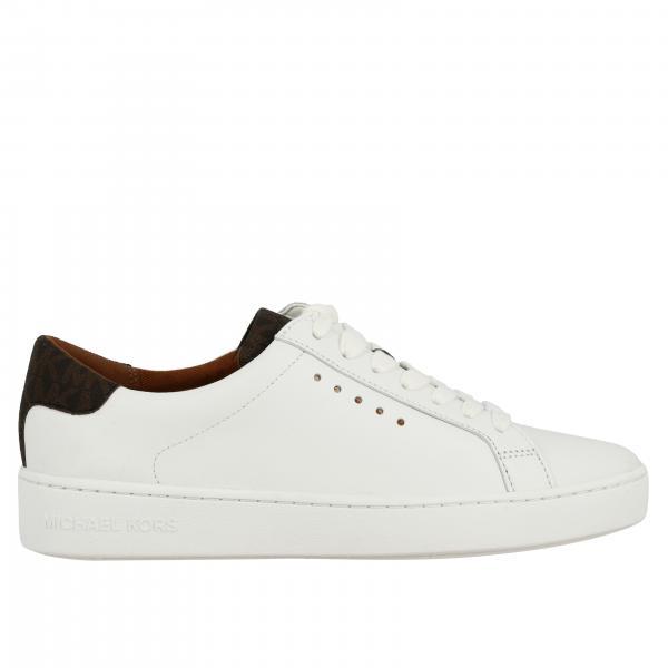 Pelle Sneakers In Donna 43s7irfs3l Michael Kors BiancoStringata Pk8XOnw0