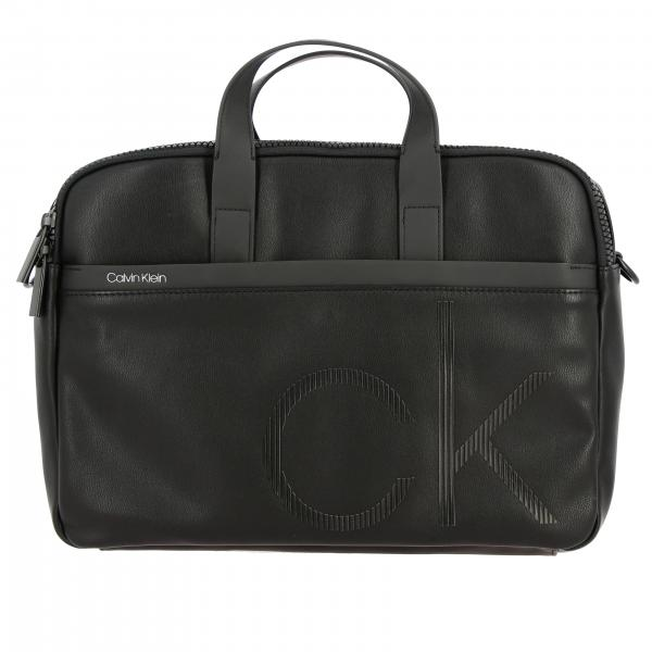 Calvin Klein work bag in synthetic leather with logo