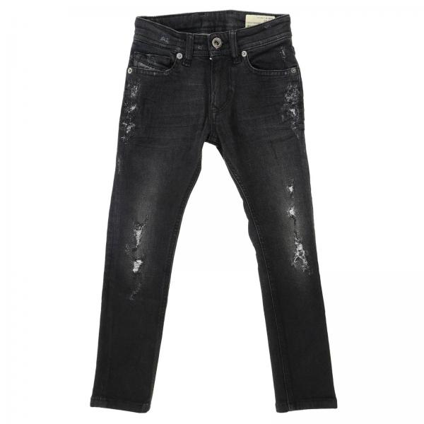 Jeans Diesel in denim stretch used con rotture