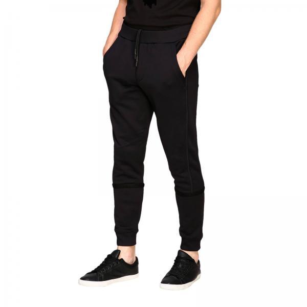 Mcqueen Uomo Pantalone Logo NeroIn Stile 536449 Rmt19 Mcq Jogging Alexander Con Coulisse E EDYIWH29