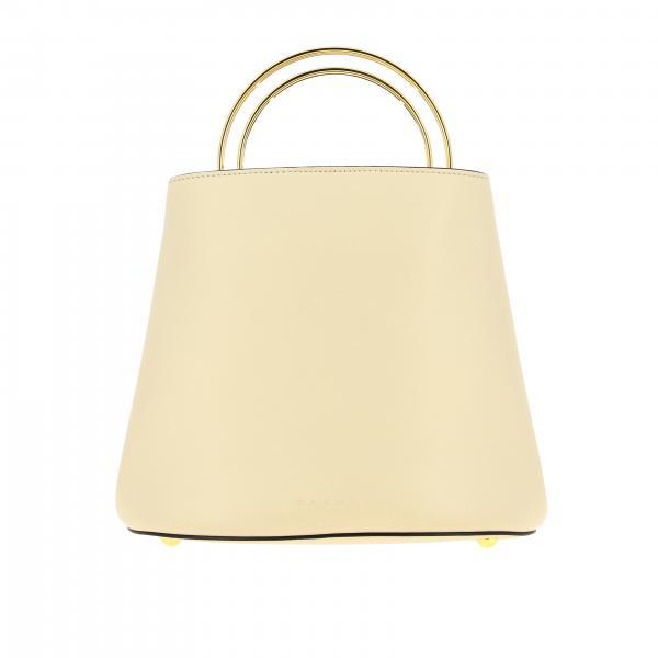 Panier Marni leather bag with rigid metal handle