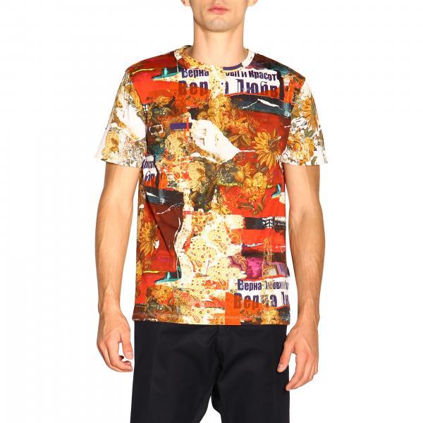 Uomo Etro Stampe 5532 T RossoA Corte Maniche Con shirt 1y020 354LAjcRq