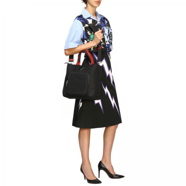 Tracolla 2cki Full E Zip In 1bg273 PradaBorsa Nylon Donna Logo Con Tote Triangolare Borse fybg6v7Y