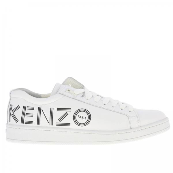 Sneakers Kenzo stringata in pelle con stampa logo
