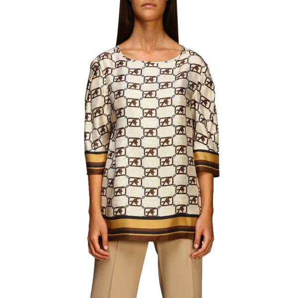 Alberta Ferretti Shirt mit all over Monogramm