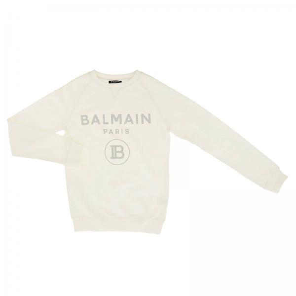 Crewneck sweatshirt with Balmain Paris maxi print