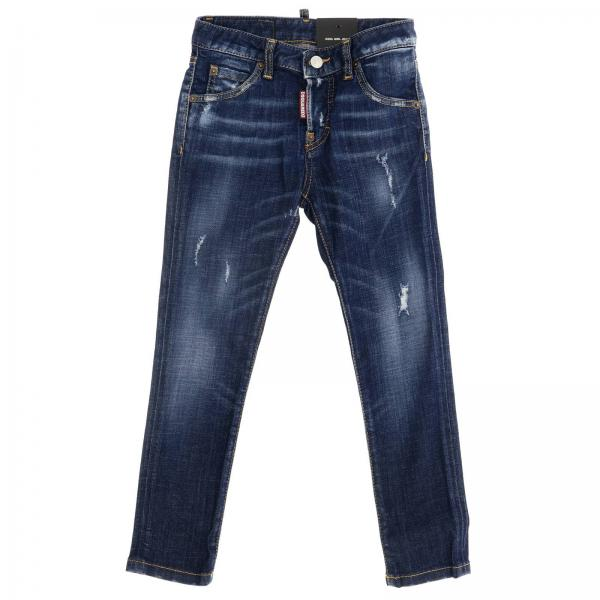 Jeans Dsquared2 Junior in denim used stretch con rotture