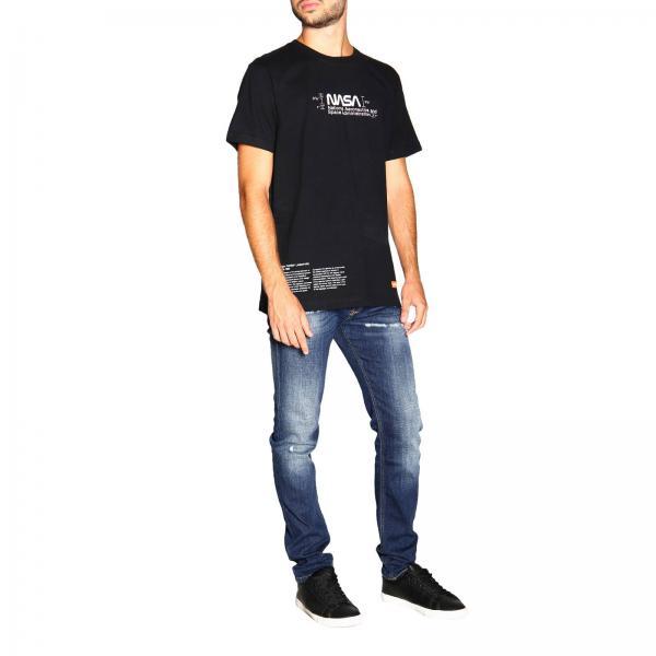 Hmaa004f19760018 Uomo Stampe PrestonA Maniche Corte T shirt Heron Con H29WEDI