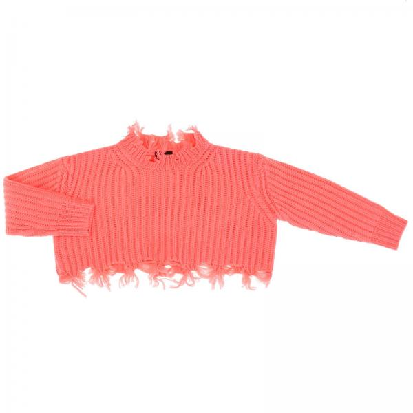 Diesel cropped pullover with fringed edges