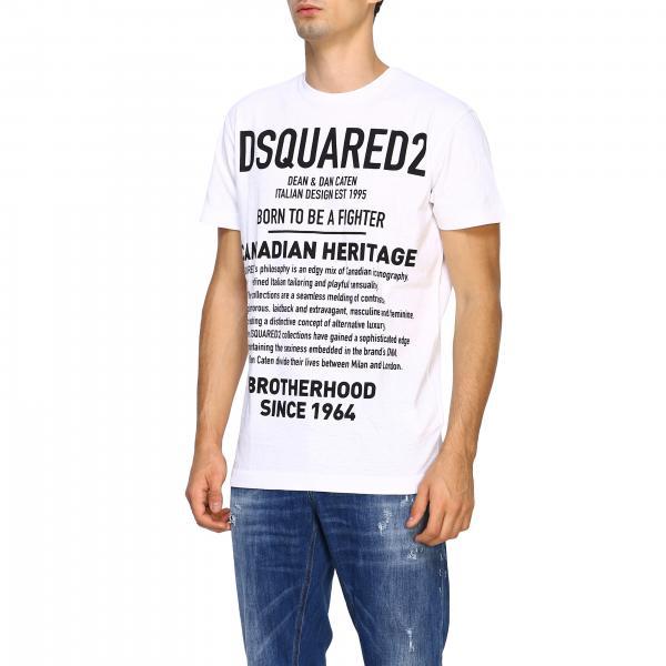 Maniche Con Stampa S74gd0594s22507 Corte shirt Uomo T Dsquared2A Maxi j4A5RL