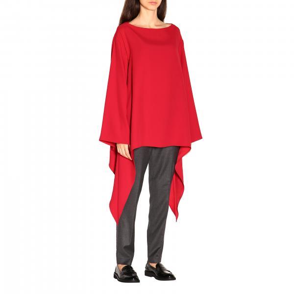 Alberta Ferretti Over Hemd mit asymmetrischem Boden