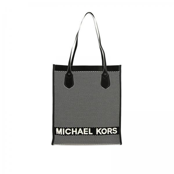 Borsa tote Michael Michael Kors in tela a micro fantasia con logo