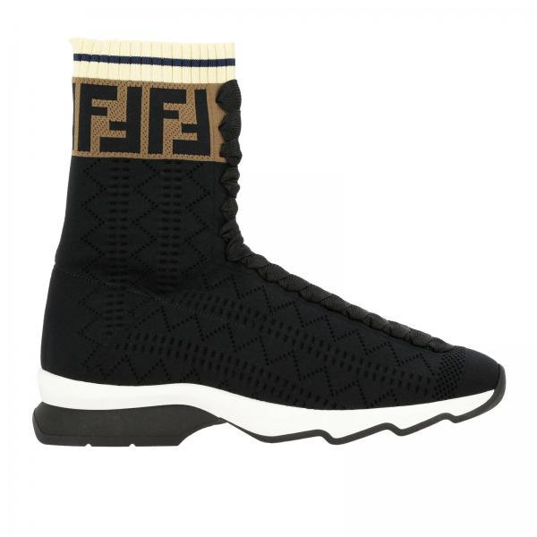 Кроссовки-носки Fendi с монограммой FF