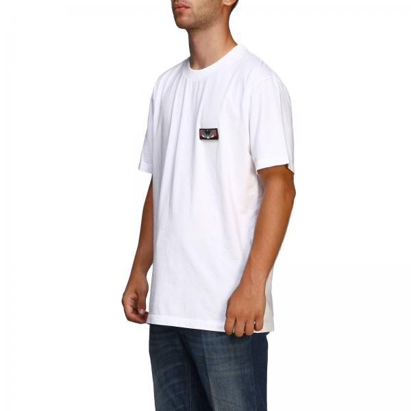 Cmaa018e19001099 T Corte shirt Burlon Uomo BiancoA Maniche Con Logo Marcelo UMVpqGSz