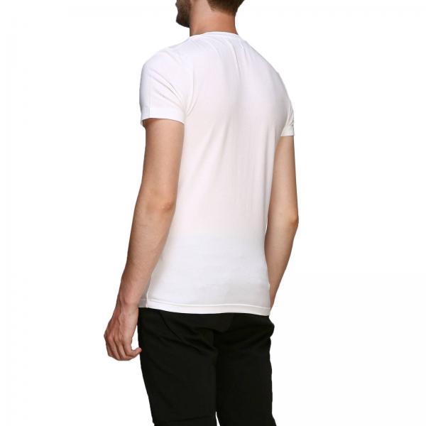 Uomo Maniche DondupA Logo T shirt Js0125 Corte Con Us221 lK31JcTF