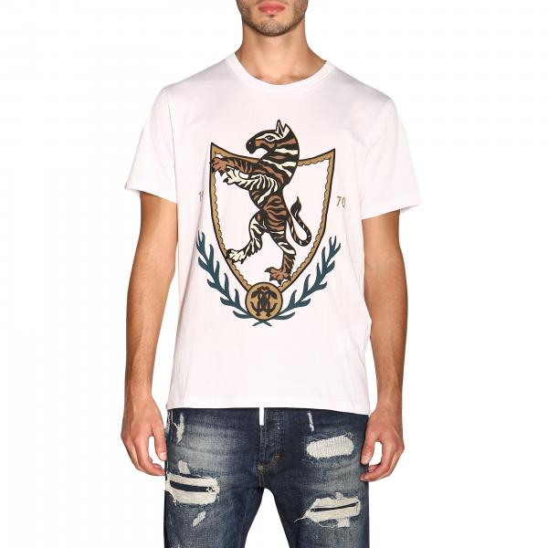 T-shirt Roberto Cavalli a maniche corte con stampa