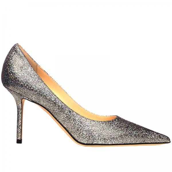 Love Jimmy Choo Décolleté In Laminated Leather by Jimmy Choo
