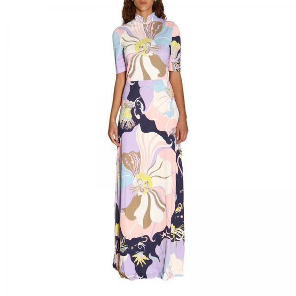 Платье Emilio Pucci в пол с рисунком