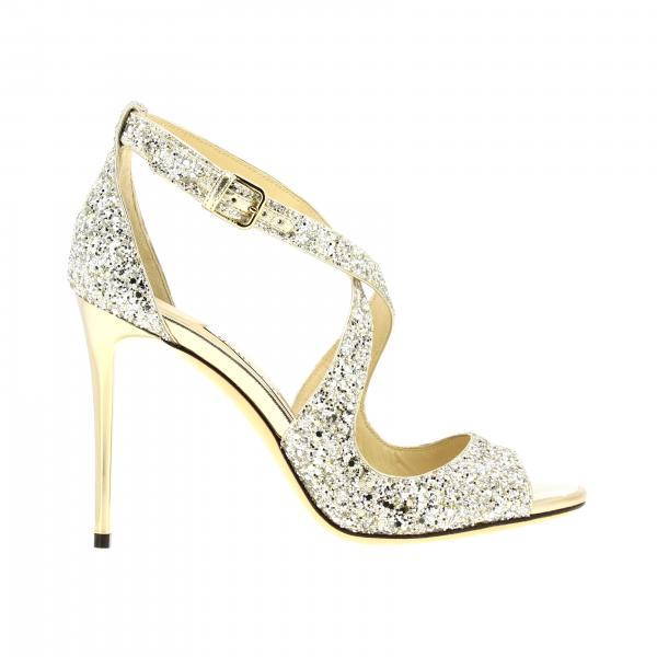 Sandalo Emily Jimmy Choo in pelle glitter