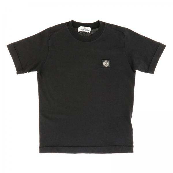 Stone Island basic t-shirt with short sleeves and mini logo