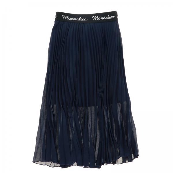 Monnalisa 百褶面料半身裙
