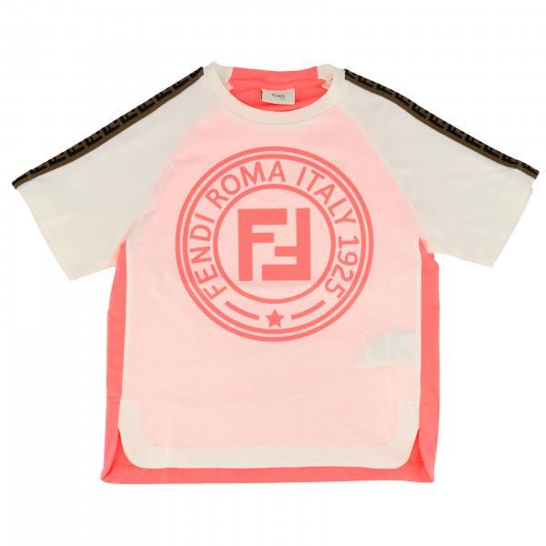 Fendi FF logo印花短袖圆领T恤