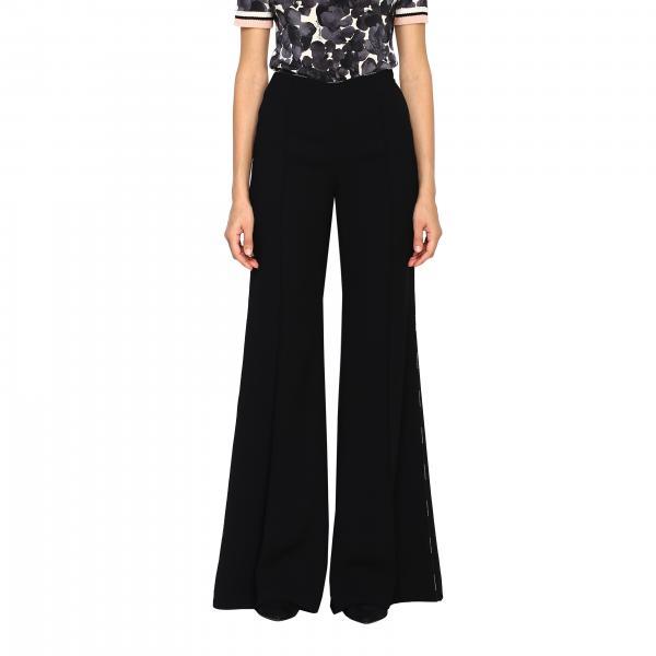 Pantalone Elisabetta Franchi a vita alta con bordi a contrasto