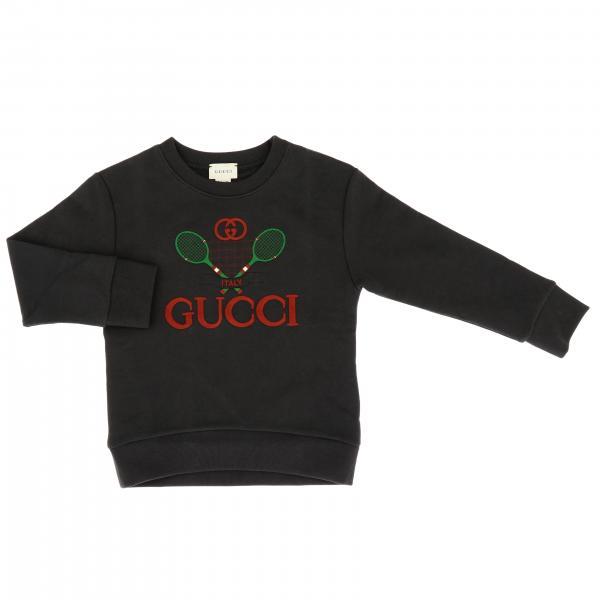 Felpa Gucci a girocollo con maxi logo Tennis